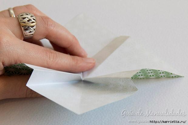 Как сложить красивый бант из бумаги в технике оригами (16) (620x413, 108Kb)