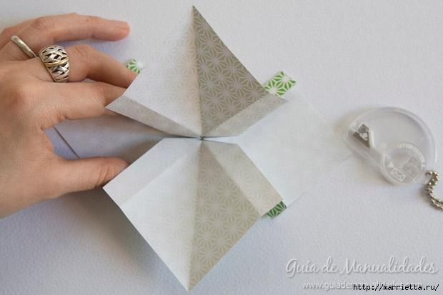 Как сложить красивый бант из бумаги в технике оригами (18) (620x413, 117Kb)