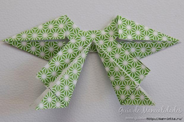 Как сложить красивый бант из бумаги в технике оригами (24) (620x413, 182Kb)