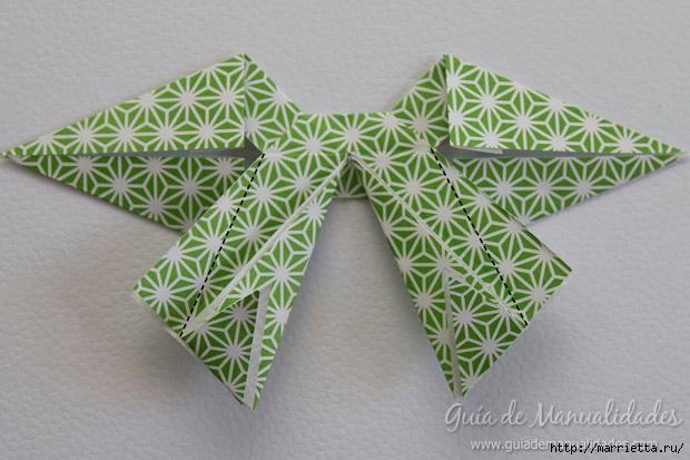 Как сложить красивый бант из бумаги в технике оригами (25) (620x413, 172Kb)