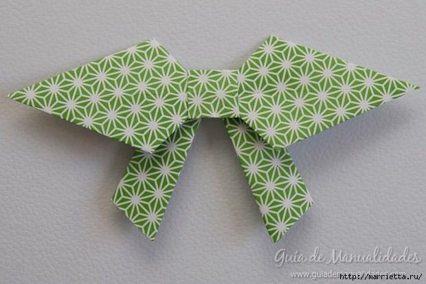 Как сложить красивый бант из бумаги в технике оригами (27) (620x413, 171Kb)