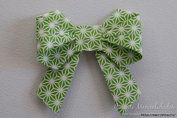 Как сложить красивый бант из бумаги в технике оригами (29) (620x413, 172Kb)