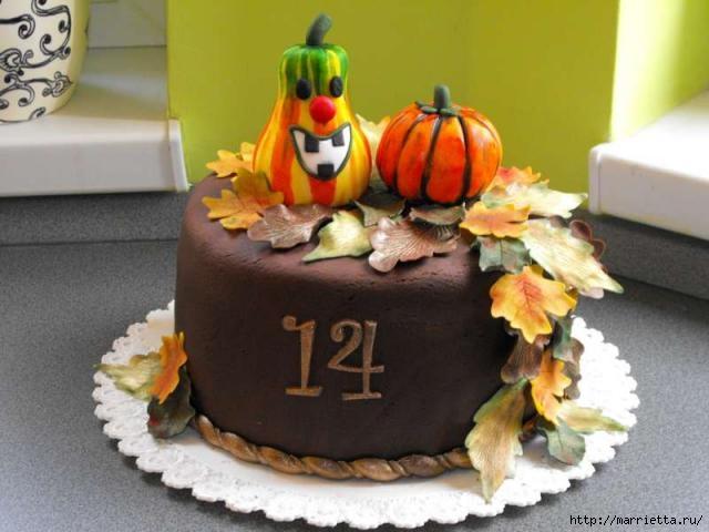 Осенние марципановые 3D торты. Идеи (3) (640x480, 132Kb)