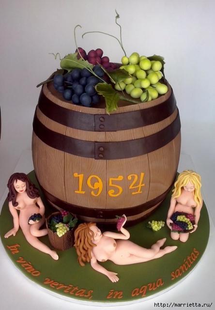 Осенние марципановые 3D торты. Идеи (5) (444x640, 117Kb)