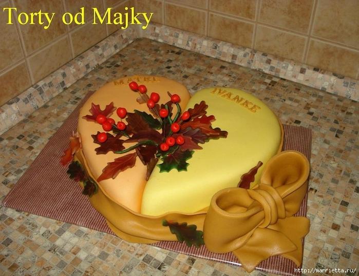 Осенние марципановые 3D торты. Идеи (9) (700x537, 302Kb)