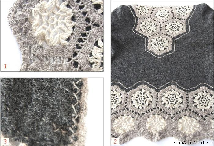 Комбинирование ткани кружев