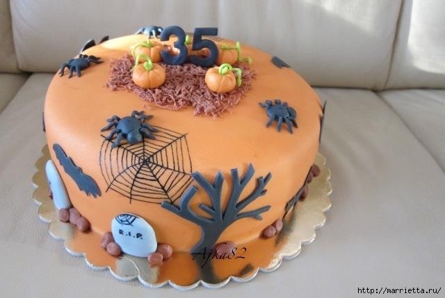 Осенние марципановые 3D торты. Идеи (10) (640x428, 149Kb)