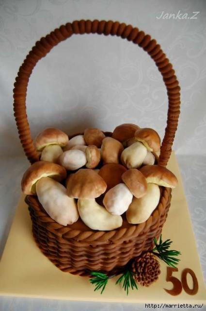 Осенние марципановые 3D торты. Идеи (22) (425x640, 113Kb)