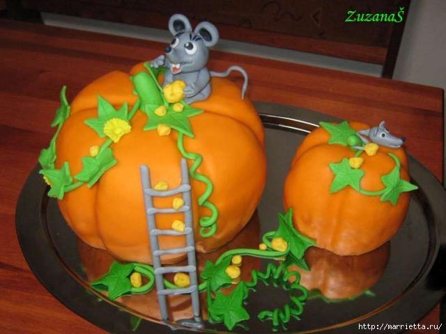 Осенние марципановые 3D торты. Идеи (28) (640x480, 136Kb)