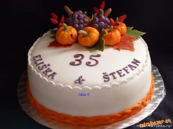 Осенние марципановые 3D торты. Идеи (31) (600x450, 95Kb)