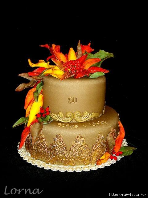 Осенние марципановые 3D торты. Идеи (33) (480x640, 135Kb)