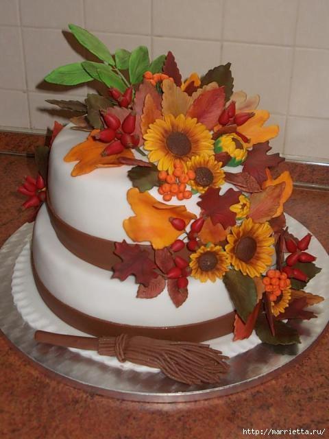 Осенние марципановые 3D торты. Идеи (35) (480x640, 140Kb)