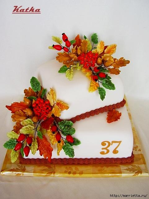 Осенние марципановые 3D торты. Идеи (37) (480x640, 206Kb)