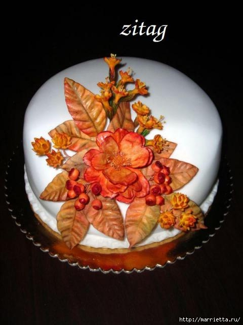 Осенние марципановые 3D торты. Идеи (39) (480x640, 115Kb)