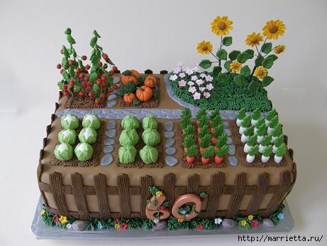 Осенние марципановые 3D торты. Идеи (41) (461x346, 92Kb)