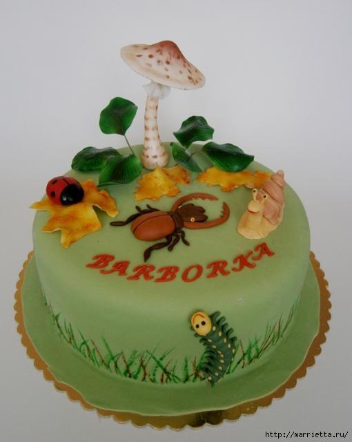 Осенние марципановые 3D торты. Идеи (46) (510x640, 92Kb)