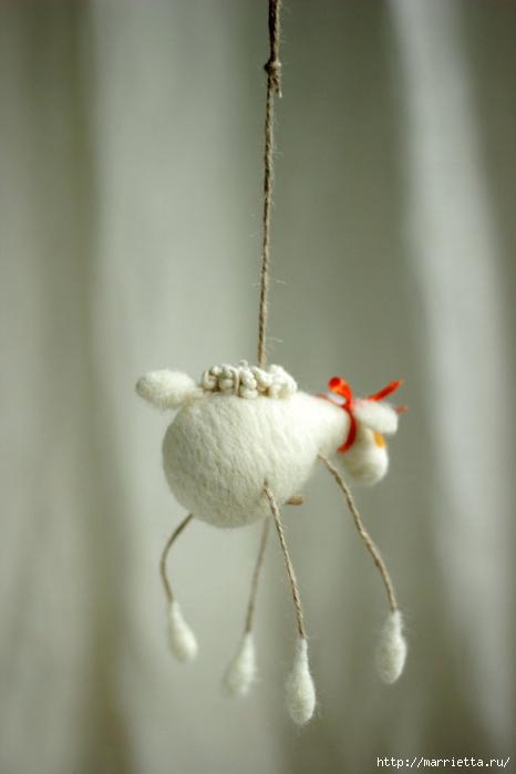 Романтичная овца и другие игрушки в технике валяние (19) (466x700, 138Kb)