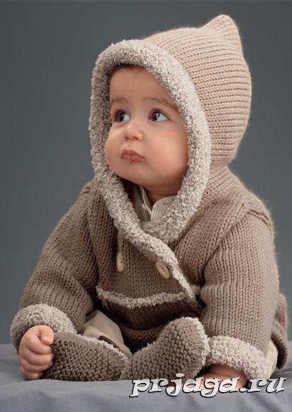 Вязание для детей со схемами - Вязание спицами.Комплект: жакет, штанишки, ш