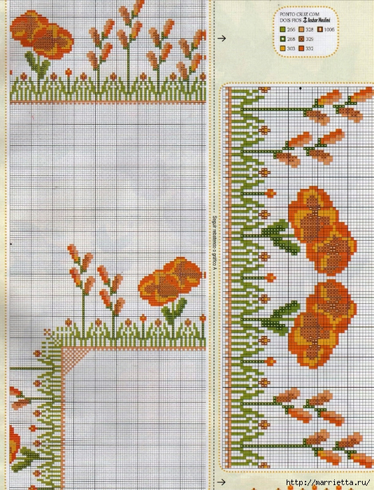 Схема вышивки крестом для скатерти (5) (535x700, 425Kb)