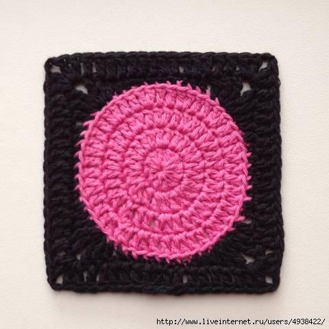 Вязание как из круга сделать квадрат крючком
