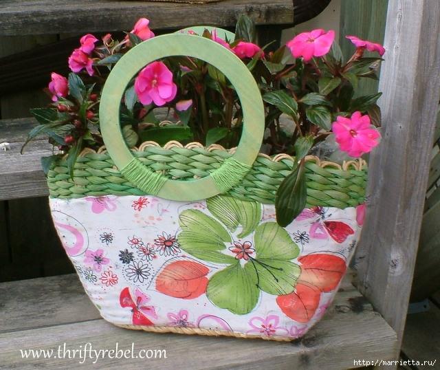 Декоративное кашпо для цветов из сумки (6) (640x538, 273Kb)