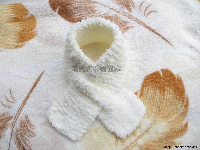 детский шарф спицами с игрушкой (8) (700x524, 289Kb)