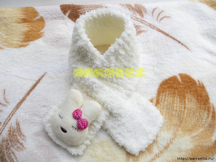 детский шарф спицами с игрушкой (10) (700x524, 289Kb)