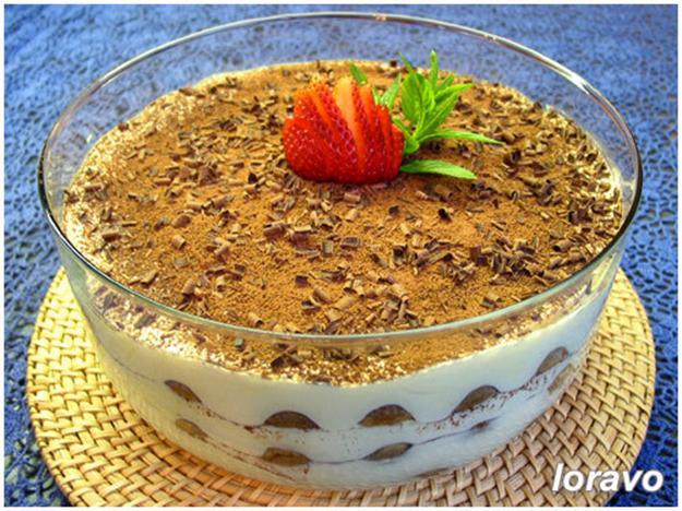 Десерт на основе сыра маскарпоне