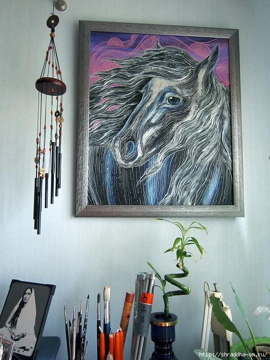 Лошадь, автор Shraddha (16) (525x700, 343Kb)