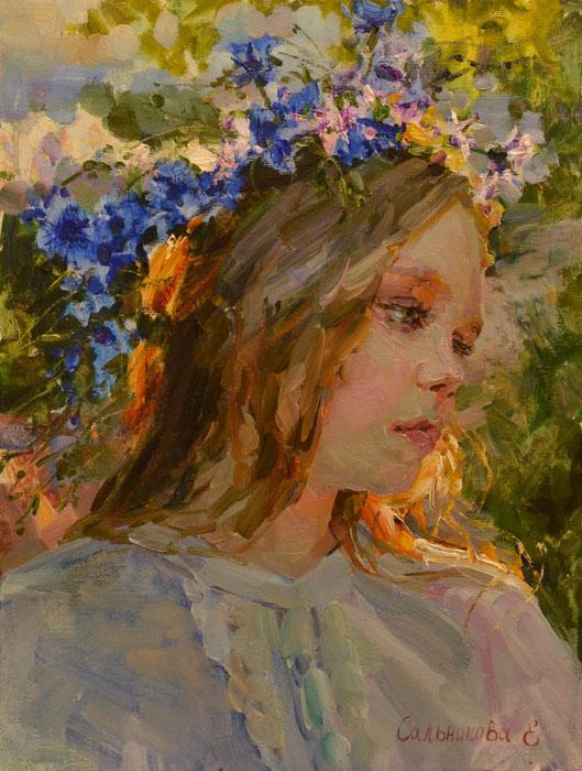 Salnikova Elena  Cornflowers (529x700, 126Kb)