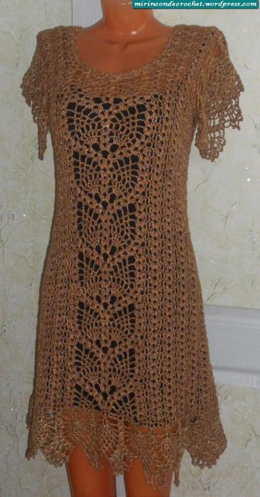 Вязание крючком. Золотое платье (1) (366x700, 311Kb)