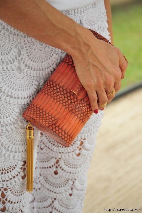 Длинная юбка крючком узором ракушка (2) (465x700, 235Kb)