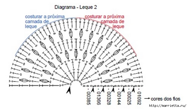 Длинная юбка крючком узором ракушка (2) (607x352, 107Kb)