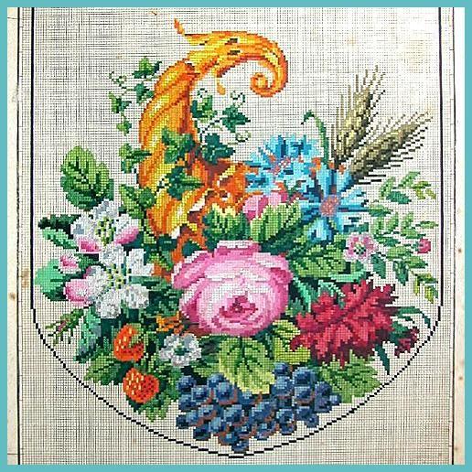 Розы старинные схемы вышивки