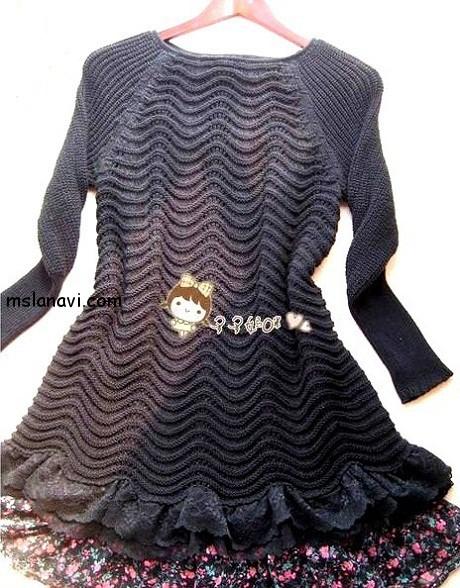 теплое-вязаное-платье-спицами (460x588, 296Kb)