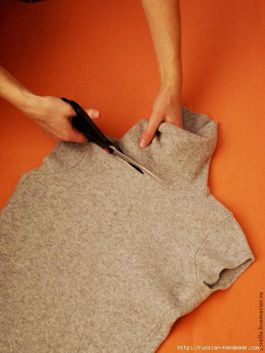 Модная переделка старого свитера (1) (525x700, 263Kb)