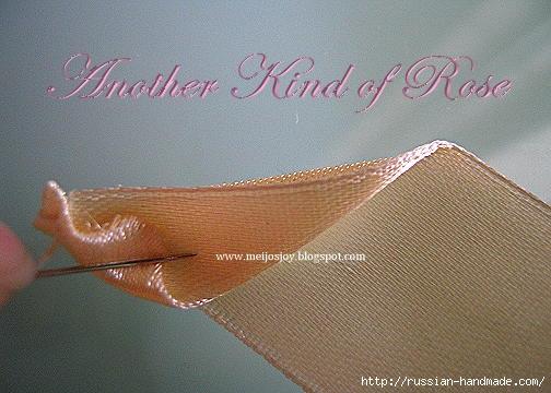Роза из ленты для создания украшений. Мастер-класс (2) (504x360, 115Kb)