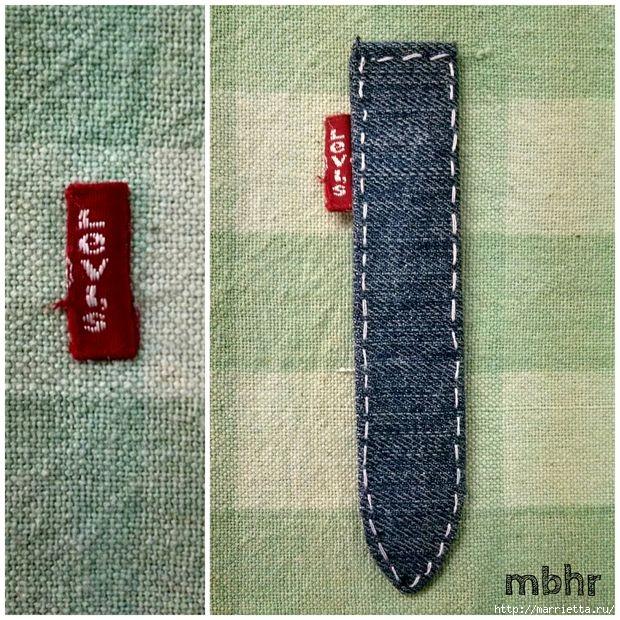 Ремешок для наручных часов из старых джинсов. Мастер-класс (27) (620x620, 333Kb)