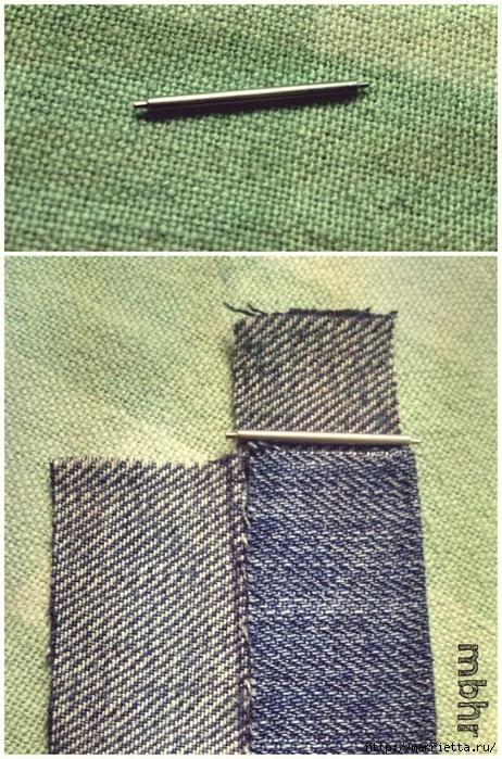 Ремешок для наручных часов из старых джинсов. Мастер-класс (31) (462x700, 357Kb)