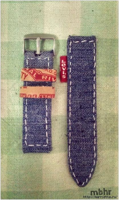 Ремешок для наручных часов из старых джинсов. Мастер-класс (35) (418x700, 296Kb)