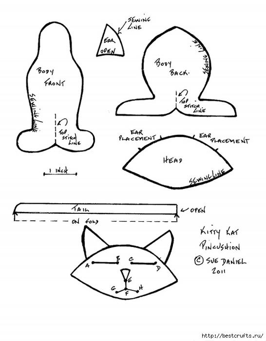 Шьем очаровательных кошек по выкройке (2) (546x700, 139Kb)
