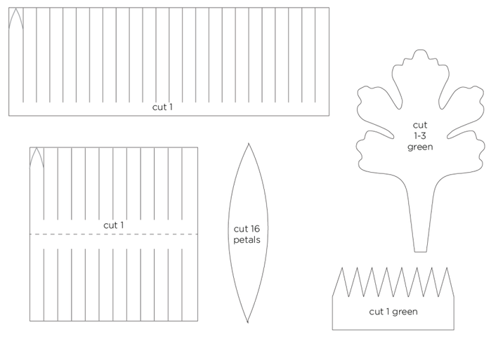 Осенние цветы из гофрированной бумаги. Шаблоны для распечатки (1) (700x483, 44Kb)