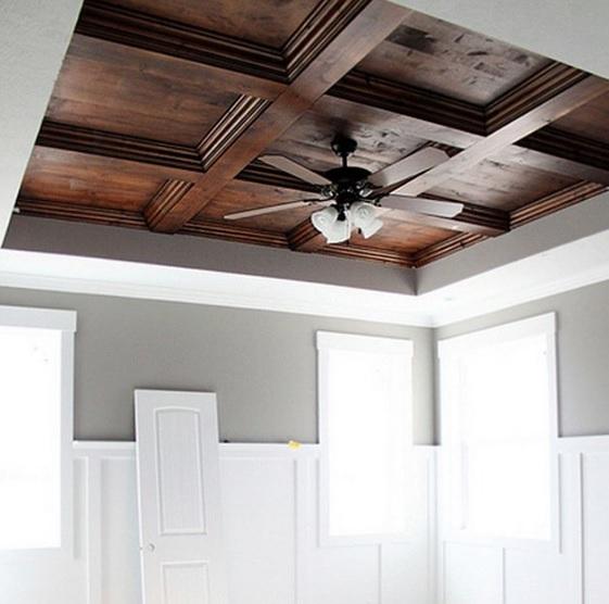 Кухня-столовая в стиле прованс и как сделать деревянный потолок своими руками (1) (561x556, 184Kb)