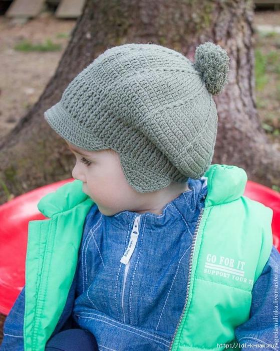 вязаная кепочка для мальчика, шапочка для мальчика, как связать кепку мальчику, как связать шапочку мальчику. схема вязания кепочки мальчику, схема вязания шапочки для ребенка, Хьюго Пьюго рукоделие,
