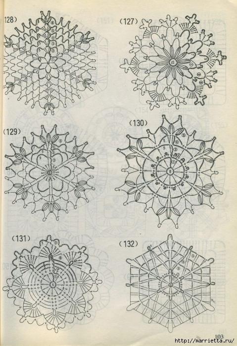 Схемы СНЕЖИНОК крючком (10) (479x700, 285Kb)