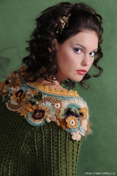 Фриформ. Пуловер ЦАРИЦА ЛЕСА от Синюковой Елены (6) (465x700, 271Kb)