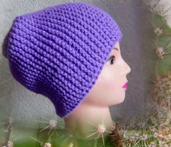 Мк-видео вязание шапочки
