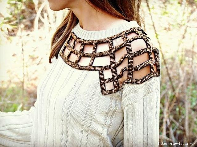 Стильная идея переделки пуловера (1) (639x475, 247Kb)