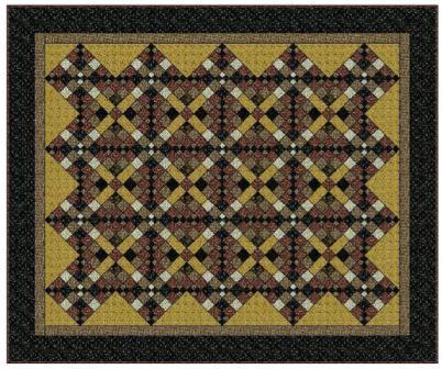 Vintage цепи Quilt Pattern (402x336, 42Kb)