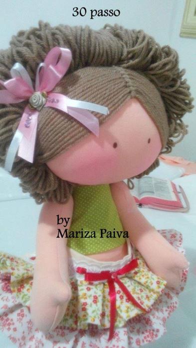 Красивая прическа с кудряшками для куклы. Мастер-класс (2) (393x700, 286Kb)